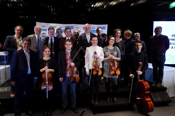 Cérémonie remise instruments - crédits JL Stadler Région Grand Est