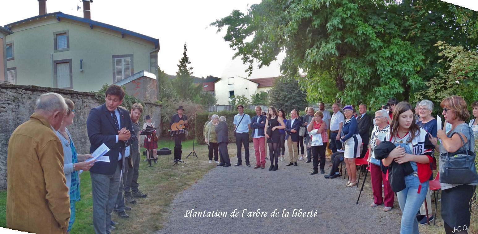 Remiremont– L'arbre de la Liberté dédié à «O Sullivan»