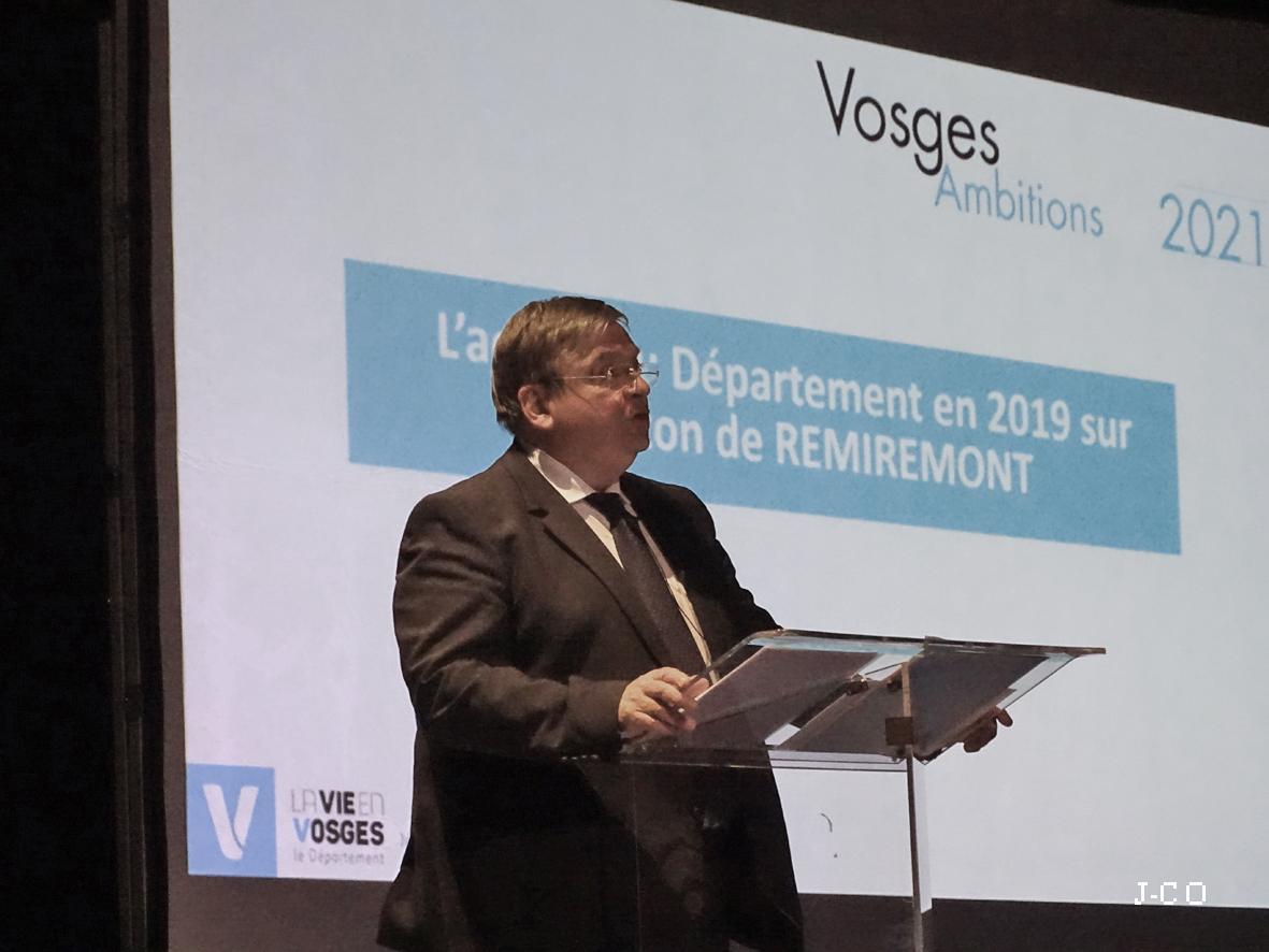 Remiremont et son canton– 11,256 millions d'euros investis en 2019 par le Conseil Départemental