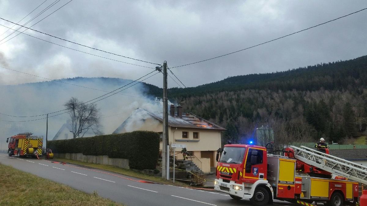 Cornimont – Une habitation en feu à Xoulces