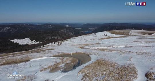 Au 13 heures de TF1 – Les Vosges confinées… sous la neige