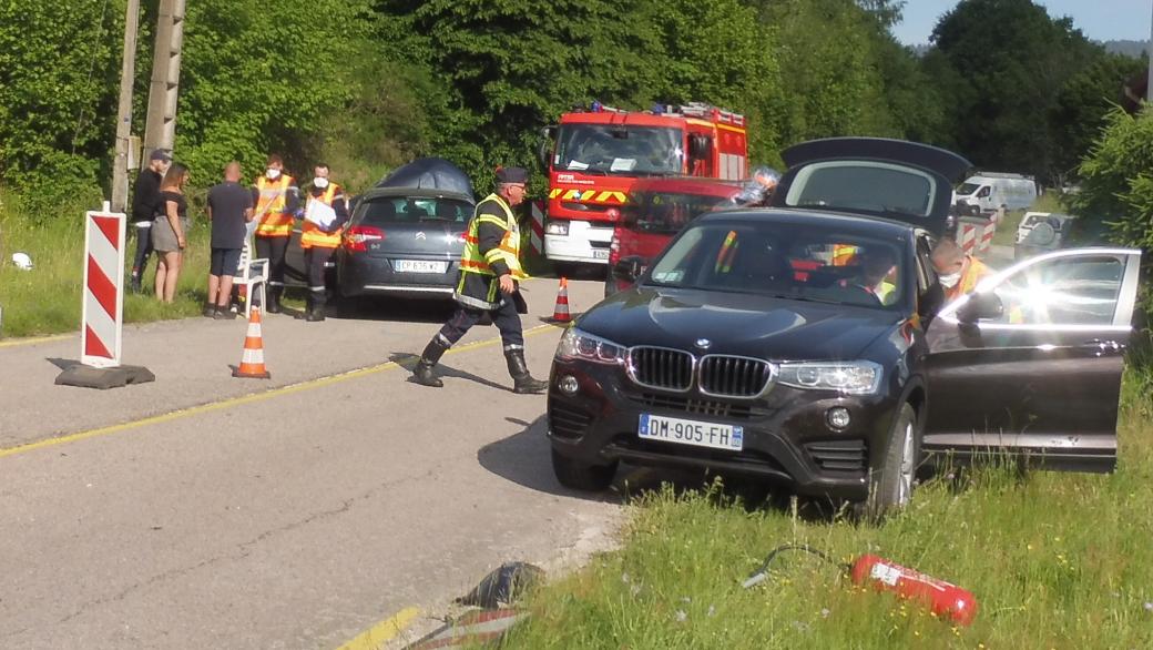 Saulxures-sur-Moselotte – Deux blessés dans une collision sur la route des Graviers