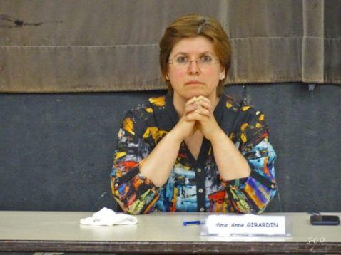 Anne Girardin, candidate à la présidence.