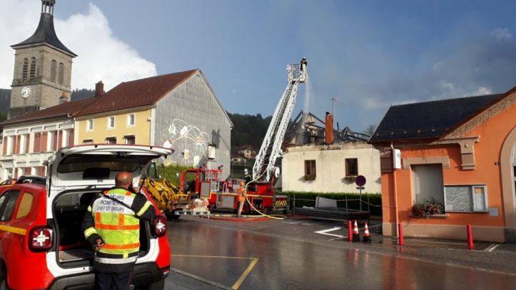 Ventron – Il ne reste plus rien de la maison incendiée