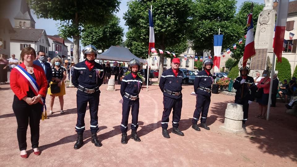 Le Val-d'Ajol – Trois pompiers mis à l'honneur