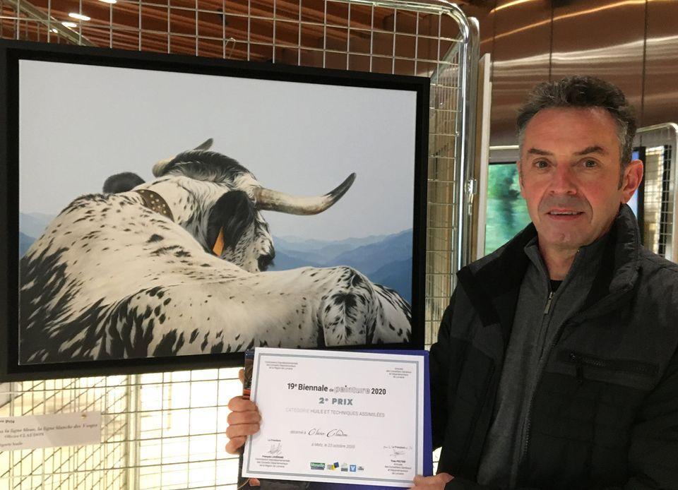 Région – Olivier Claudon (Cornimont) primé à la Biennale de Peinture des Conseils Départementaux de Lorraine