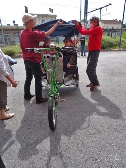 Vélotaxi Ehpad 18
